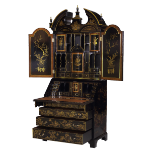 34420 - secretary desk chinoiserie chinoiserie black sfd3