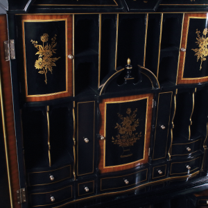 34420 - secretary desk chinoiserie chinoiserie black sfd8