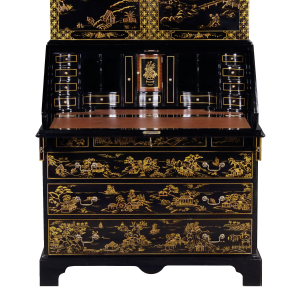 34420 - secretary desk chinoiserie chinoiserie black sfd4
