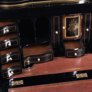34420 - secretary desk chinoiserie chinoiserie black sfd5