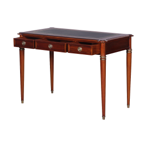 33509l - directoire writing desk leather top mlsp blk sfd3 1