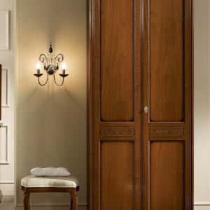 2 deurs slaapkamerkast noten