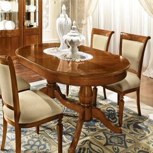 eettafel noten ovaal klassieke meubelen