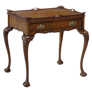33446 - tea table with tray burl em sfd3