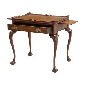 33446 - tea table with tray burl em sfd4