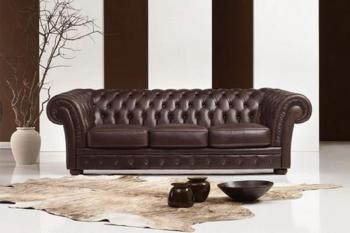 Chesterfield bankstel leer model Zeus Top kwaliteit!