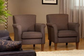 klassieke fauteuil in stof of leer