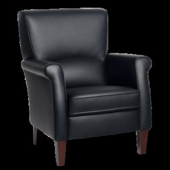 fauteuil in leer klassiek Alvera
