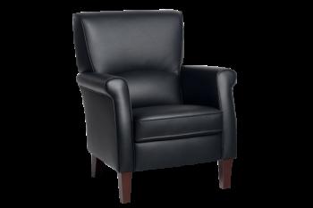 Alvera Vidato klassieke fauteuil in stof of leer